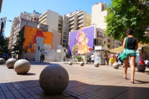 New Inti Castro mural at Bellas Artes metro stop