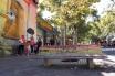 Vibrant seating in Barrio Bella Vista